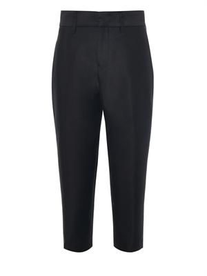 Rasmus tencho-wool cropped trousers