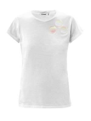 Hologram embellished T-shirt