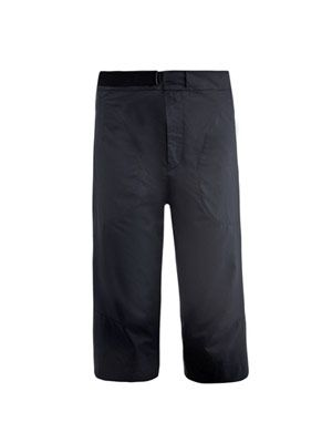 Nick washed-cotton cropped trousers