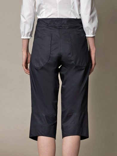 Jil Sander Nick washed-cotton cropped trousers