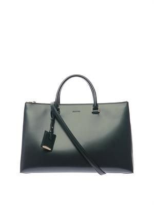 World J leather tote