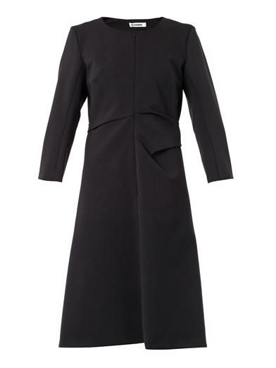 Jil Sander Scimtilla techno-wool dress