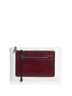 Nemo tri-colour leather clutch