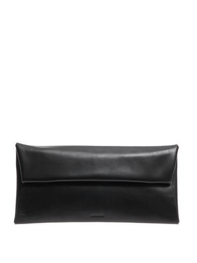 Jil Sander Leather fold-over clutch