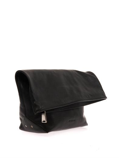 Jil Sander Pilade leather clutch