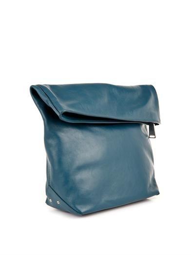 Jil Sander Pilade leather clutch