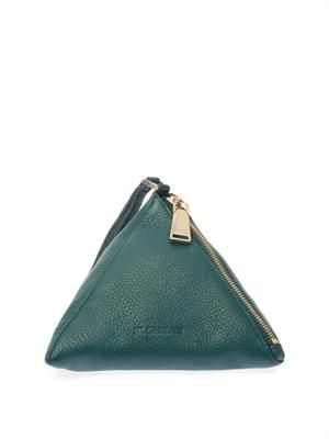 3 Angle leather clutch