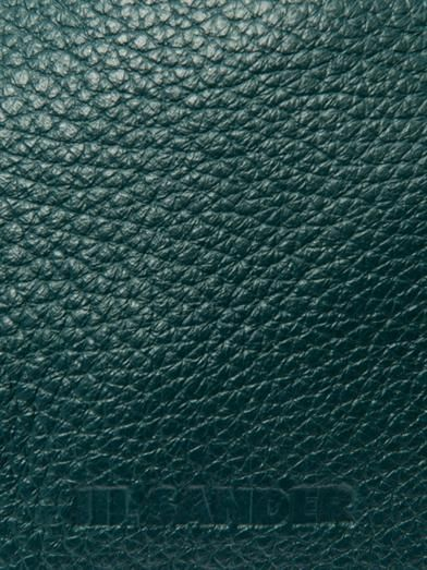 Jil Sander 3 Angle leather clutch