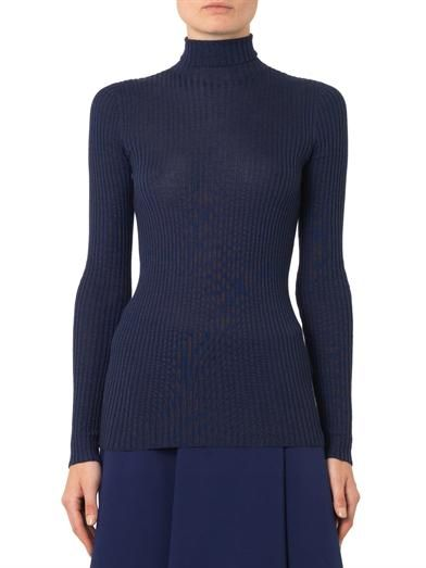 Jil Sander Cashmere and silk roll-neck sweater