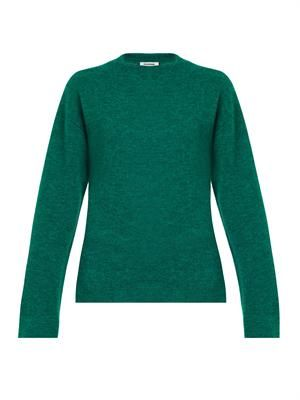 Double cashmere-blend sweater