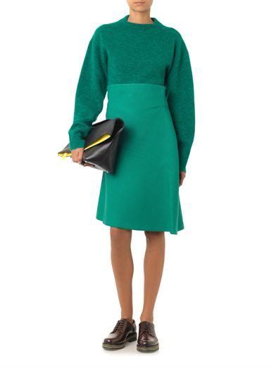 Jil Sander Sabbia open-weave wool skirt
