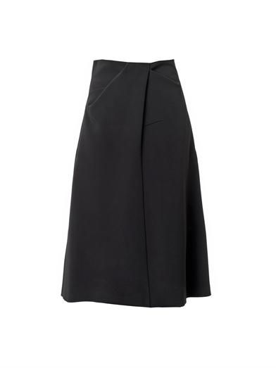 Jil Sander Sole draped-waist midi skirt