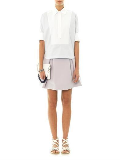 Jil Sander Techno Couture A-line skirt
