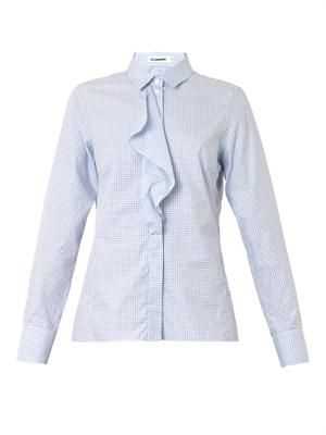 Sara gingham-check cotton shirt