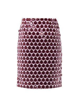Issy teardrop pencil skirt