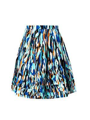 Deborah Pollock-print skirt