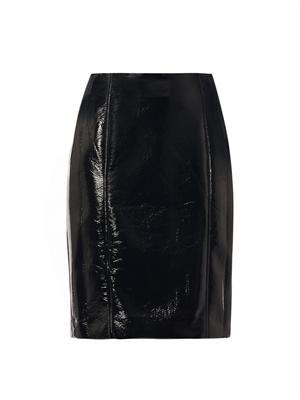 Elina vinyl pencil skirt