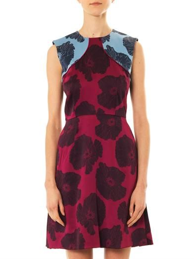 Jonathan Saunders Reesha poppy-print satin dress