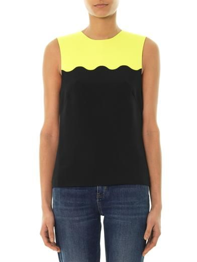 Jonathan Saunders Iva bi-colour top