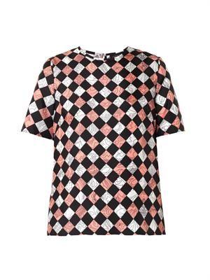 Jenna Floral Hazard-print blouse