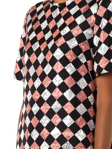 Jonathan Saunders Jenna Floral Hazard-print blouse