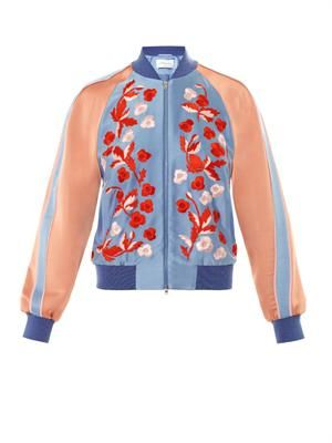 Cecily embroidered bomber jacket