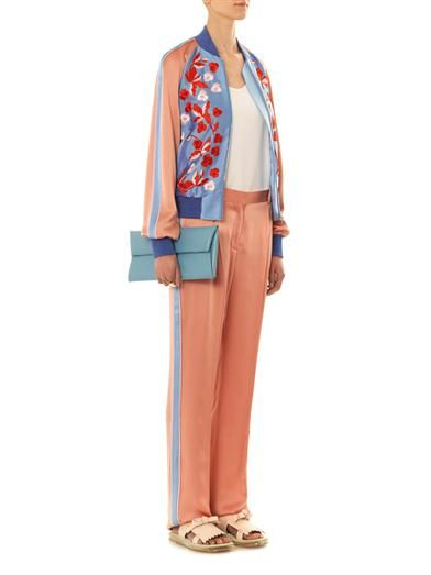 Jonathan Saunders Cecily embroidered bomber jacket
