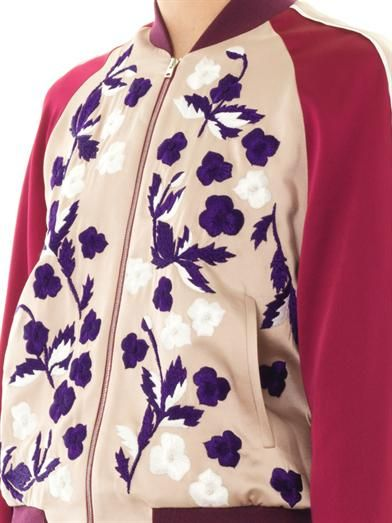 Jonathan Saunders Cecily embroidered bomber
