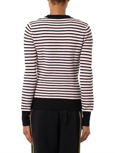 Jonathan Saunders Pye striped merino wool sweater