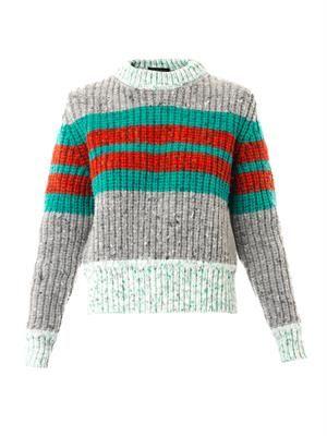 Leona striped wool-blend sweater