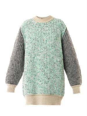 Giulia melange-knit sweater