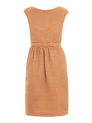 Rose waffle-structured shift dress