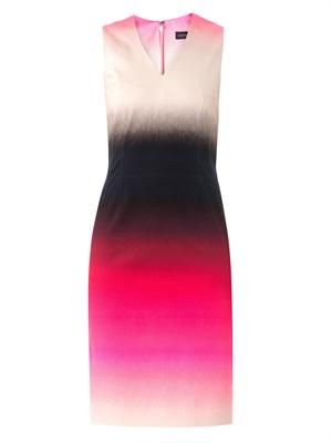 Romina ombre-print dress