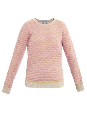 Oval pink knit sweater