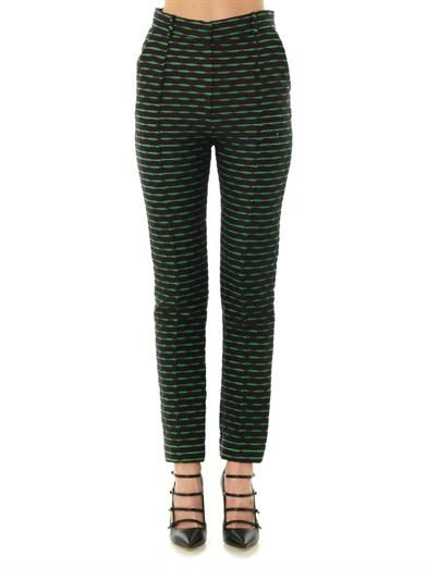 Jonathan Saunders Celeste jacquard tailored trousers