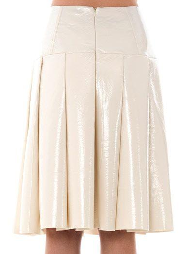 Jonathan Saunders Clarence pleated vinyl skirt