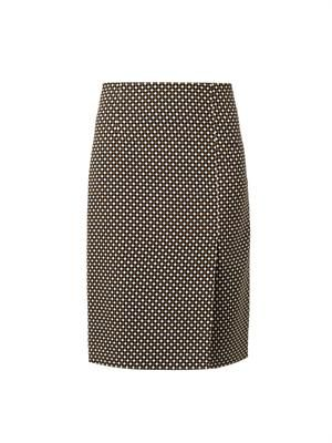 Vida Hazard check-print skirt