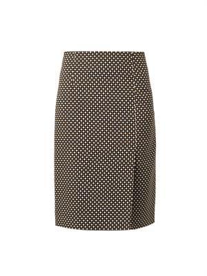 Vida Hazard check-print skirt