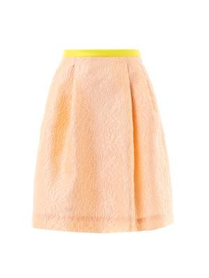 Radka peony jacquard skirt