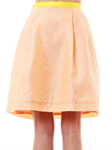 Jonathan Saunders Radka peony jacquard skirt