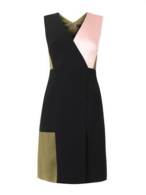Adeline colour-block dress