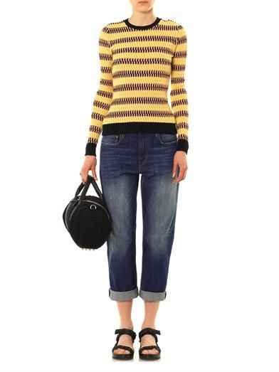 Jonathan Saunders Maryse chain-stitch sweater