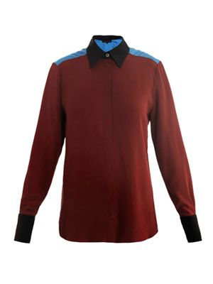 Lazlo contrast-colour shirt