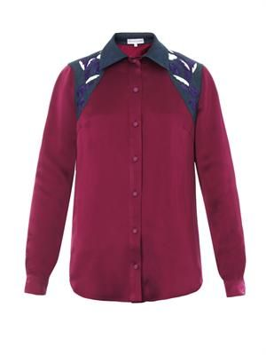 Judith embroidered satin shirt