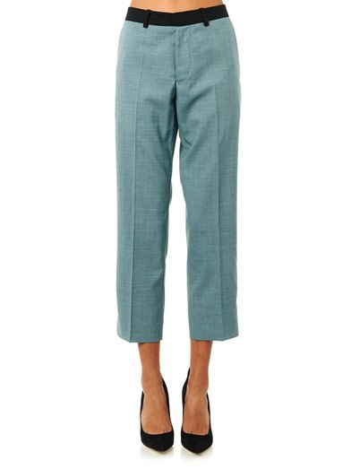 Jonathan Saunders Francine wool cropped trousers