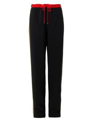 Jana crepe tailored track pants