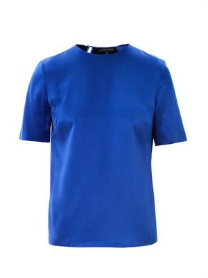 Jena colour-block silk T-shirt