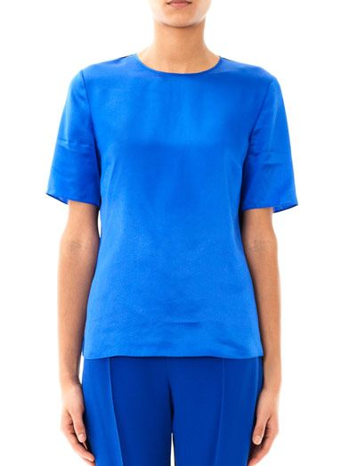 Jonathan Saunders Jena colour-block silk T-shirt