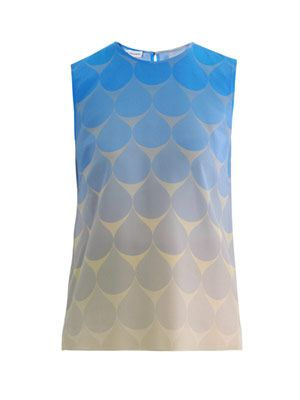 Creighton teardrop silk top