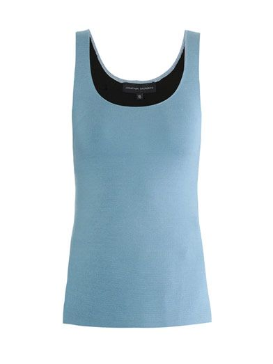 Jonathan Saunders Jacqui bi-colour knitted cami